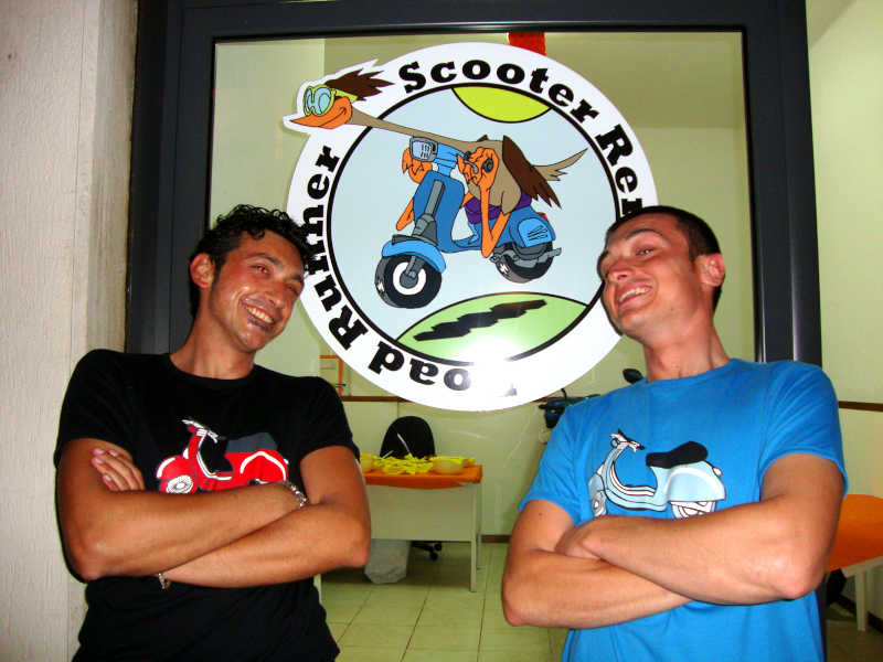 Salvatore e Claudio - Road Runner Scooter Rent
